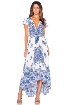 $320 Spell & The Gypsy Collective Hotel Paradiso Dress in Bluebird