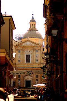 Genoa, Italy - Chiesa del Gesù in piazza Matteotti