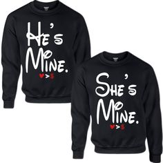 HE'S MINE SHE'S MINE COUPLE SWEATSHIRT