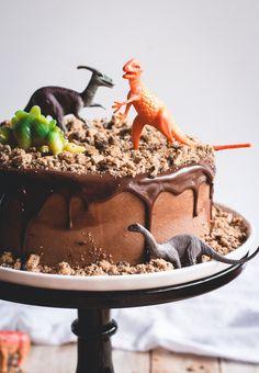 Chocolate Chips Ahoy Dinosaur Cake