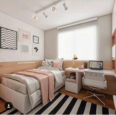 14 Trendy Bedroom Design and Decor Ideas for Your Next Makeover - The Trending House Woman Bedroom, Bedroom Interior, Small Room Bedroom, Dream Rooms, Home Decor, Aesthetic Bedroom, Small Bedroom, Interior Design Bedroom, Trendy Bedroom