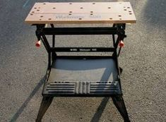 How to Use a Workmate | Hunker Woodworking With Resin, Used Woodworking Machinery, Woodworking Planes, Carpentry Skills, Woodworking Bench Plans, Woodworking Jobs, Workbench Plans, Desk Plans, Portable Workbench