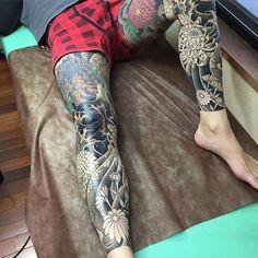 次の仕事はラーメン屋でも考えて #horiwaku #日本伝統刺青 #日本伝統芸術 #日本伝統文化 #irezumi #tattoo #japanesetattoo #japantattoo