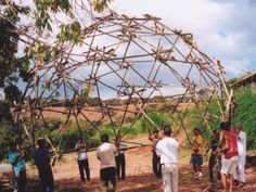 Tied up Bamboo Geodesic Dome by LILD - PUC-Rio Laboratory for Investigation in Living Design at Coroflot.com  Geodesic dome inspiration... someone on Vashon is seeking to make a greenhouse using this structure.  Cool.
