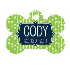 Personalized Pet ID Tag  Personalized Pet Tag  by JoyfulMoose