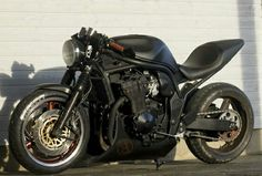 "Suzuki Bandit 1200cc roadster ""Ghost"" 92kw with Ducatti Monster seat unit and custom subframe. Built by Oliver Meipalu"