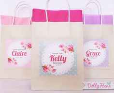 Personalised Hen Party Gift BagROSE PEONYFoil Hen Night Favour Bags Gold