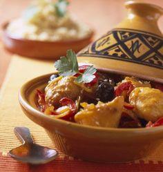 Tajine de lotte aux graines de sésame - les meilleures recettes de cuisine d'Ôdélices