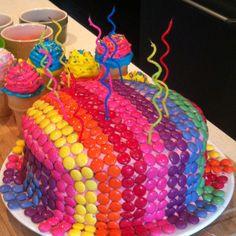 Smartie birthday cake!