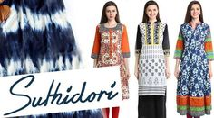 A new range of indian kurtis collection has been launched by designer label Suthidori.You can buy all kinds of Designer Kurtis, Long Kurtis,Cotton Kurtis,Pakistani Kurtis and many more designer range is out for sale online. You would not want to miss the daily updates in this Indian ethnic designer range by Suthidori exclusively on watzupdeal.com.With the finest fabric and Discounts upto 25% off these Kurtis are irresistible.