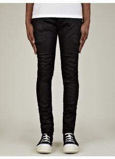 Men's Detroit Cut Black Wax Jeans