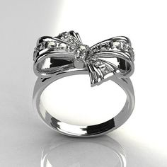 tiffany and co. -- i thought i had the perfect platinum and diamond bow ring. Do It Yourself Jewelry, Do It Yourself Fashion, Jewelry Box, Jewelry Accessories, House Accessories, Nice Jewelry, Fall Jewelry, Summer Jewelry, Jewelry Trends