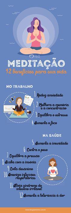 12 Benefícios da meditação para a saúde - Blog da Mimis - Veja o passo a passo no blog! #meditação #meditation #blogdamimis