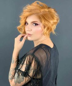 Dazzling Copper Blonde Attractive Hair Color for Short Hair You Must Try This Year