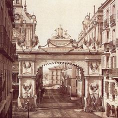 Neoclassical Architecture, Spanish Architecture, Vintage Architecture, Urban Architecture, Old Pictures, Old Photos, Vintage Photos, Best Hotels In Madrid, Foto Madrid
