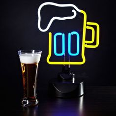 Looking for Great Valentine's Day Gifts for HIm Classic neon beer sign for the bar or mancave.