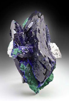 Azurite and Malachite, Milpillas Mine, Cuitaca, Mun. de Cananea, Sonora, Mexico
