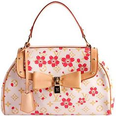 812103345664 Louis Vuitton Limited Edition Cherry Blossom Sac Retro Satchel Handbag