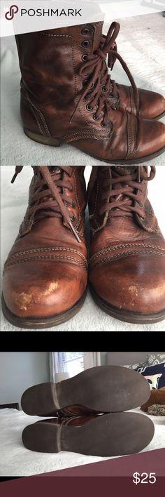 Steve Madden combat boots Steve Madden town leather combat boots! Steve Madden Shoes Combat & Moto Boots