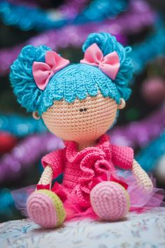 Etsy の Crochet PATTERN Doll with bunches by magicfilament