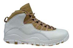 Air Jordan 10 (X) Retro-White Linen-University Blue Shoes $95.99