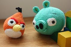 Amigurumi creations by HappyAmigurumi: Amigurumi crochet Angry Birds