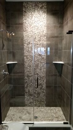 29 Popular Bathroom Shower Tile Design Ideas And Makeover. If you are looking for Bathroom Shower Tile Design Ideas And Makeover, You come to the right place. Here are the Bathroom Shower Tile Design. Master Bathroom Shower, Modern Bathroom, Bathroom Floor Tiles, Serene Bathroom, Bathroom Ideas, Bathroom Storage, Bathroom Organization, Vanity Bathroom, Bathroom Cabinets