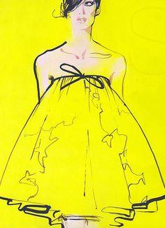 David Downton fashion illustration