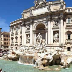 It has always been my dream to throw a coin in the Trevi fountain. Now to think up the perfect wish.