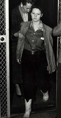 Caril Ann Fugate, girlfriend of Charlie Starkweather. he killed her parents and baby sister then took her hostage