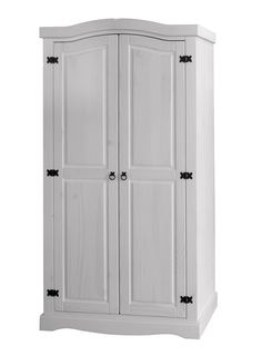 Cool The Corona White Wash Door Wardrobe is a practical sized wardrobe that is perfect for