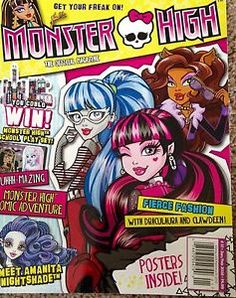 Monster High 2016 January February Issue Magazine New Just Released Vintage Cartoon, Vintage Comics, Monster High Pictures, Personajes Monster High, Anime Cover Photo, Kids Diary, Comic Poster, Cartoon Posters, Adventure Style