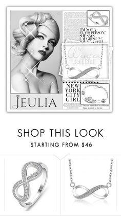 """Jeulia Jewelry-Gray Elegance.8"" by samirhabul ❤ liked on Polyvore featuring Michael Kors, gray, jeulia and jeuliajewelry"