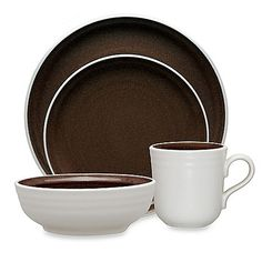 Gibson Paradiso Round Dinnerware Collection in Brown | Home Sweet ...