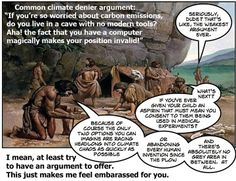 Climate deniers love the black or white logical fallacy.
