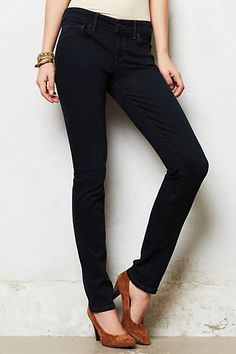 Level 99 Lily Skinny Straight Jeans - anthropologie  so comfy!