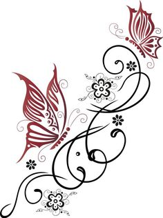 Illustration about Feminine, filigree tribal with flowers and butterfly. Illustration of foliage, garden, elegant - 33575685 Tribal Butterfly, Butterfly Drawing, Butterfly Flowers, Flower Mandala, Colorful Flowers, Butterflies, Simple Butterfly, Tattoo Flowers, Butterfly Tattoos