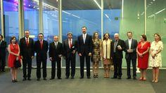 Junto a los Príncipes de Asturias en el acto de entrega de los Premios Nacionales de Diseño e Innovación.