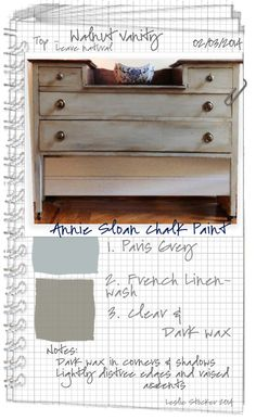 Colorways: Paris Grey and French Linen in Chalk Paint® by Annie Sloan Refurbished Furniture, Repurposed Furniture, Furniture Makeover, Diy Furniture, Dresser Makeovers, Furniture Design, Distressed Furniture, Painting Furniture, Furniture Projects