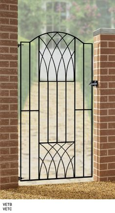 Home Ideas For > Simple Iron Gates Design | Wrought iron gates ...