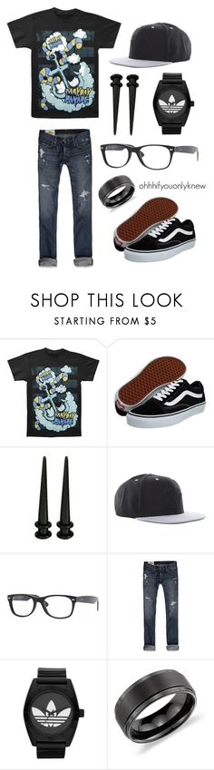 """""""Untitled #150"""" by ohhhifyouonlyknew ❤ liked on Polyvore featuring Vans, Diamond Supply Co., Ray-Ban, Hollister Co., adidas Originals, Blue Nile, my style, bands, my creations and mayday parade"""