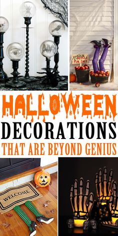 DIY Halloween Decorations Halloween Decorations to make your home look spooky and creepy! The best Halloween decoration ideas for outdoor or indoor use. Make fun Halloween craft projects with any of these decoration ideas. Halloween Veranda, Fun Halloween Crafts, Dollar Store Halloween, Theme Halloween, Halloween Activities, Halloween Horror, Teen Halloween Party, Halloween Prop, Halloween Party Ideas For Adults