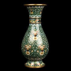 China 20. Jh. A Chinese Cloisonne Enamel Club-Shapped Vase - Chinois Cinese