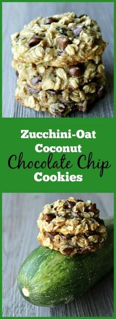 Chocolate Chip Cookies Zucchini-Oat Coconut Chocolate Chip Cookies- The best way to sneak veggies into cookies!Zucchini-Oat Coconut Chocolate Chip Cookies- The best way to sneak veggies into cookies! Healthy Sweets, Healthy Baking, Healthy Snacks, Healthier Desserts, Healthy Protein, Coconut Chocolate Chip Cookies, Chocolate Chips, Chocolate Zuchinni Muffins, Pecan Cookies