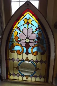 Antique Stained Glass Window Victorian by antiquestainedglass, $650.00