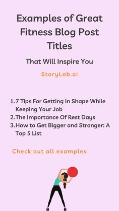 We have compiled a list of great fitness blog post titles that you can use for your own blog to attract more visitors and give your blog a boost. We've used our Blog Title Generator to create a nice list of Blog Title Examples for Fitness Websites. Check them out below and start creating your own with our free generator. I hope this helps. #fitness #bodybuilding #sports #blogging #blog #blogmarketing #contentmarketing #contentcreation Social Media Digital Marketing, Online Marketing Tools, Marketing Technology, Content Marketing Strategy, Social Marketing, Fitness Websites, Title Generator, Blog Title, Nice List