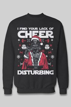 The best gift for Darth Vader and Star Wars fans! As a special for Pinterest customers, get $10 off this funny ugly christmas sweater until we sell out.