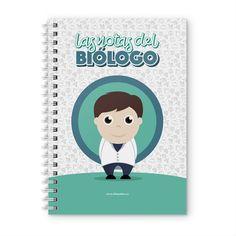 Cuaderno XL - Las notas del biólogo, encuentra este producto en nuestra tienda online y personalízalo con un nombre. Notebook, Books, Teacher Notes, Notebooks, Store, Libros, Book, Book Illustrations, The Notebook