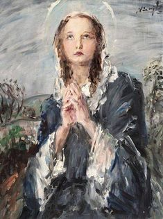 """O, Mary, model of a perfect communion, help us to receive Jesus worthily."" - Msgr Louis-Gaston de Ségur"