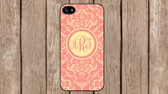 Personalized Monogram Demask Pink Pattern case for iPhone 4/4s/5/5s/5c Samsung Galaxy S3/S4/S5/Note 2/Note 3 by TopCraftCase, $6.99